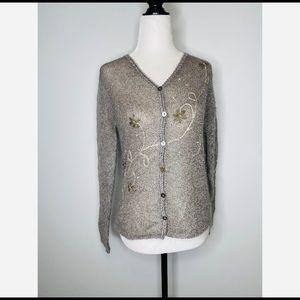 Sigurd Olsen Mohair Blend Knitted Cardigan Sweater